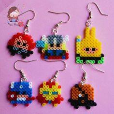 "Orecchini mini Hama Beads The Avengers by Mrs. Poppy, 6,00 euro su misshobby.com. Mini hama beads earrings ""The Avengers"""