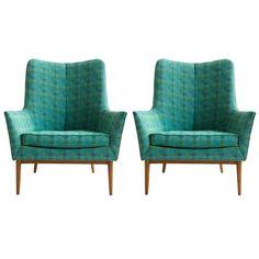 Pair of Paul McCobb Lounge Chairs | 1stdibs.com