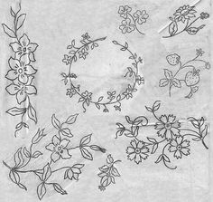 embroidery pattern - flowers