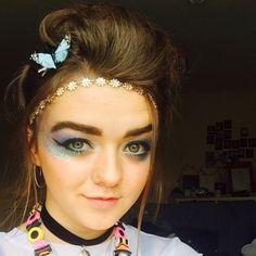 Maisie (Arya) looking beautiful for Glastonbury