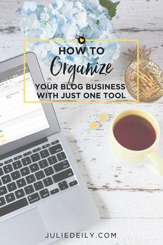 Blog Business Organizer - Julie Deily Business Organization, Blogger Tips, Social Media Tips, Instagram