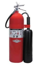 Amerex® 20 Pound Stored Pressure Carbon Dioxide 10-B:C Fire Extinguisher For Class B And C Fires With Chrome Plated Brass Valve, Wall Bracket, Hose And Horn