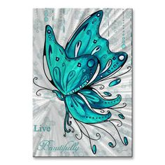 Butterfly Painting - Turquoise Aqua Butterfly And Flowers Inspirational Painting Design Megan Duncanson Live Beautifully by Megan Duncanson Butterfly Drawing, Butterfly Painting, Butterfly Wallpaper, Butterfly Design, Tribal Butterfly Tattoo, Simple Butterfly, Painting Flowers, Blue Butterfly, Beautiful Butterflies