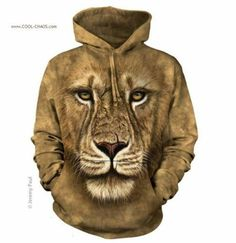 Take a walk on the wild side with the Lion Warrior Hoodie Sweatshirt from The Mountain. Shop our huge selection of zoo animal tees and wear one every day of the week! Lion Warrior, Renaissance, Gothic, Tie Dye Hoodie, Big Face, Mountain Lion, 3d T Shirts, Funny Shirts, 3d Prints