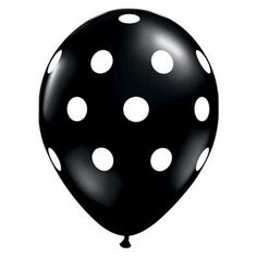 "Black Polka Dot 11"" Balloons - Set of 5"