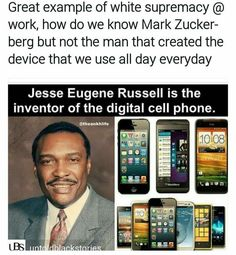Jesse Eugene Russell Black History Month, Black History Facts, Black History Inventors, African American History, African American Inventors, Black Pride, Black Power, Black People, World History