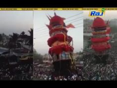 Koppiyam - Temple Chariot Collapsed In The Accident   கர்நாடகா: உற்சவத்த...