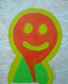 POP SMILE - acrylic on vynilic - cm.43x35 by Zeno Travegan (Enzo Gravante)