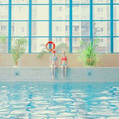 What is it about the humble, public swimming pool that fascinates Slovakian photographer Mária Švarbová so much? Is it the muted colours? Or perhaps the chlorine smells and echoing sounds of the space? Illustrations, Illustration Art, Swimming Pool Photography, Instagram Blog, Instagram Posts, Pix Art, Photographie Portrait Inspiration, Creative Industries, Art Plastique