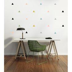 Stickers muraux triangles de Pöm le bonhomme - Tribuzig