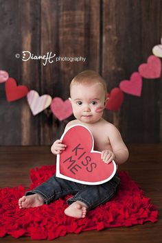 Valentines day photos, Babies photography and Kiss me on Pinterest