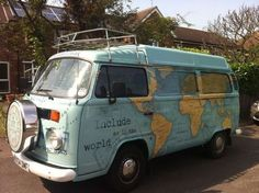Travel the Globe World Tour – in a vintage VW bus - Van Life Bus Camper, Camper Life, Volkswagen Bus, Volkswagen Beetles, Vintage Campers, Vw Vintage, Vintage Travel, Vintage Caravans, Van Life