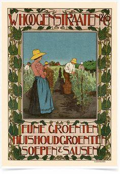 Poster The Belle Epoque Whoogenstraaten impresso com tecnologia HighHD de alta definição em papel semi-glossy especial com gramatura 250g no tamanho A3 (42x29cm) com cores vibrantes.