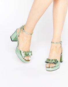 Metallic mint heels!