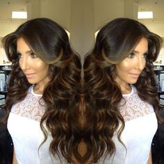 love the dark hair with caramel NOT BLONDE highlights...THIS IS WHAT I WANT!!!!