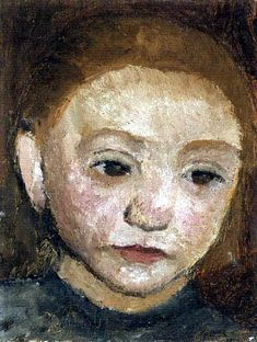 Paula Modersohn-Becker - Figurative Painting - German Expressionism - Portrait of a Girl