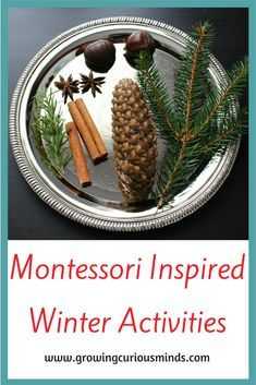 10 Great Montessori Inspired Winter Activities For Preschool #montessori #montessoriathome #montessoriprechool www.growingcuriousminds.com