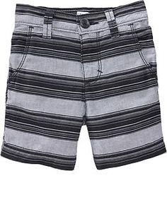 Striped Twill Shorts for Baby