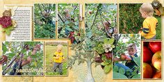 Apple Picking (double page) - The Digichick Gallery