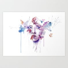 about a new place Art Print by Agnes-cecile - $20.00