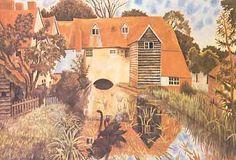 "Dora Carrington (English, 1893-1932)  ""Tidmarsh Mill"""