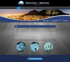 """Simplified it, a Cape Town based IT company, approached Vertex Central to handle the re-branding process and to create a functional, feature rich website. What was created was a """"information hub"""", seamlessly integrated into a content management system, as well as support center with a ticketing system to aid them in providing first class support. #CMS #Joomla #webdesign #blue #IT"""