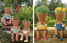 How To Make Clay Pot Flower People...http://homestead-and-survival.com/how-to-make-clay-pot-flower-people/