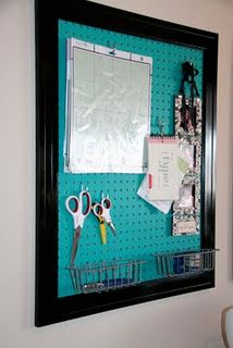 love these framed peg boards