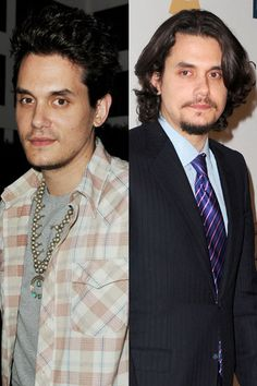John Mayer  After splitting with Katy Perry, the soul singer also split with his long locks, chopping inches off his long hair at the Sally Hershberger salon in L.A. He debuted the new 'do on August 25 at a party for The Mindy Project!
