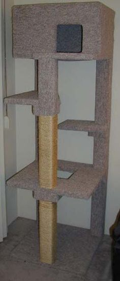 Free DIY Woodworking Plans to Build a Cat Tree: Free Cat Condo Plan at…