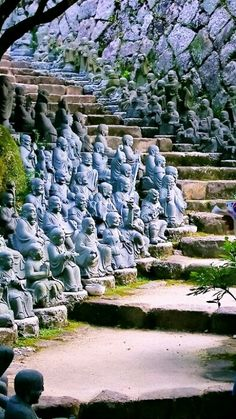 Statue Stairs ~ Kyoto, Japan