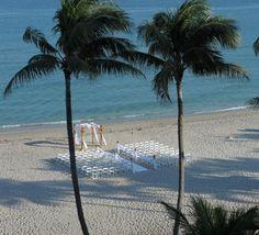 Quintessential beachfront wedding. Need we say more? [Wyndham Deerfield Beach Resort]
