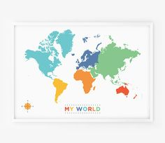 Letterpress World Map Artsy Fartsy Pinterest Letterpresses - World map for playroom