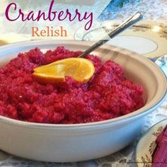 Cranberry Relish Recipe  |  whatscookingamerica.net  #cranberry #relish #thanksgiving