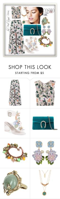 """""""Ynallection Steban"""" by pearllynnerivera ❤ liked on Polyvore featuring Christine Alcalay, Jeffrey Campbell, Gucci, Dolce&Gabbana and Vintage"""