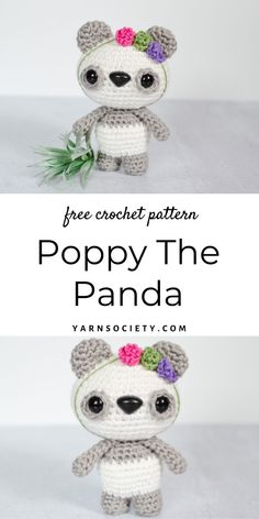 This free amigurumi crochet pattern is the perfect pattern for panda lovers who enjoy a quick project. Crochet Animal Amigurumi, Crochet Bear, Crochet Animals, Amigurumi Patterns, Crochet Dolls, Easy Beginner Crochet Patterns, Crochet Tutorials, Crochet Designs, Unique Crochet