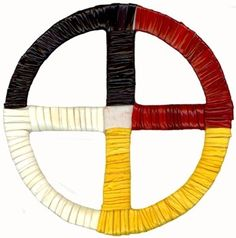 """Lakota quillwork from South Dakota. These are called """"cangleska"""" in Lakota and are a ubiquitous symbol of Indian Country."""