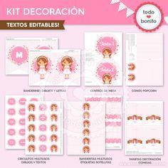 Comunión Niña Rosa: Kit decoración