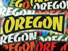 This listing is for one high quality vinyl Thrasher Style Oregon sticker, for your laptop, car, truck, van, mirror, window, binder, cat, dog, or whatever needs stickering.  Each sticker is approximately 8 wide by 2.5 tall, and in stunning full color as seen in the photographs.  These vinyl stickers are long lasting, color-fast, weather durable, look great on a variety of surfaces, and are easy to remove. This is a custom sticker, is cut out by hand, and not a printed sticker on a clear…