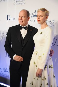 Princess Charlene of Monaco and Prince Albert ll attend the 2016 Princess Grace Awards Gala at Cipriani 25 Broadway on October 24, 2016 in New York City.