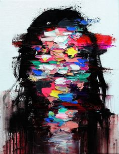 Complexity of human emotions, which is hard to be defined in one word, is left as momentary traces on the empty space, after the long agony of the artist's inner side.