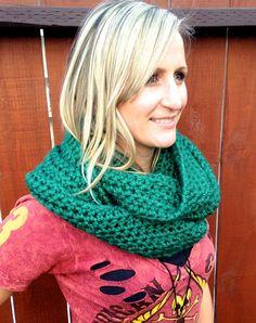 SALE St. Patrick's Day Green Chunky Crochet by STITCHandCABOODLE, $39.00
