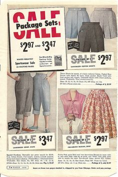 Two pairs of 1950s denim jeans for just $3.47. Might need to move that decimal two places for the same deal today lol