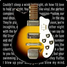 Brian Eno Roxy Music Teisco Starway Guitar Inspired Premium Quality 11oz Coffee Mug Gift