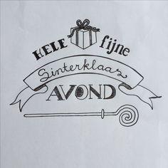 Sinterklaas Hele fijne Sinterklaasavond. Handlettering Juvejo 2016-11-02
