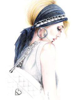 Chanel Chic - Print of Original Fashion Inspired Illustration. $18.00, via Etsy.