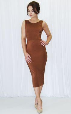 Nori Low Cut Side Bodycon Dress - SilkFred