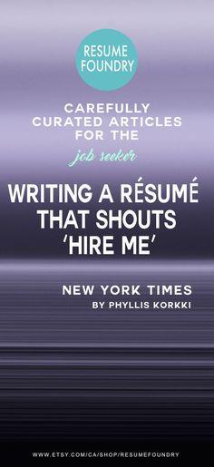 Writing a Résumé That Shouts u0027Hire Meu0027 Professional resume - resume me