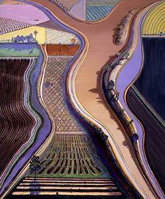 Never have understood why Thiebaud is known for his cakes and candies instead of his landscapes and cityscapes. If you ever stand in front of his paintings of San Francisco, you'll get vertigo. Plus, he makes color look edible. Love this guy.  ishttp://3.bp.blogspot.com/_5bVN3kXOxFc/TOuFLI4L8jI/AAAAAAAACXY/MPh2ysKoQFc/s1600/artwork_images_1018_78567_wayne-thiebaud.jpg