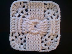 "His Design 6"" square. With new way to crochet beginning double crochet without using ch 3. amazing idea."